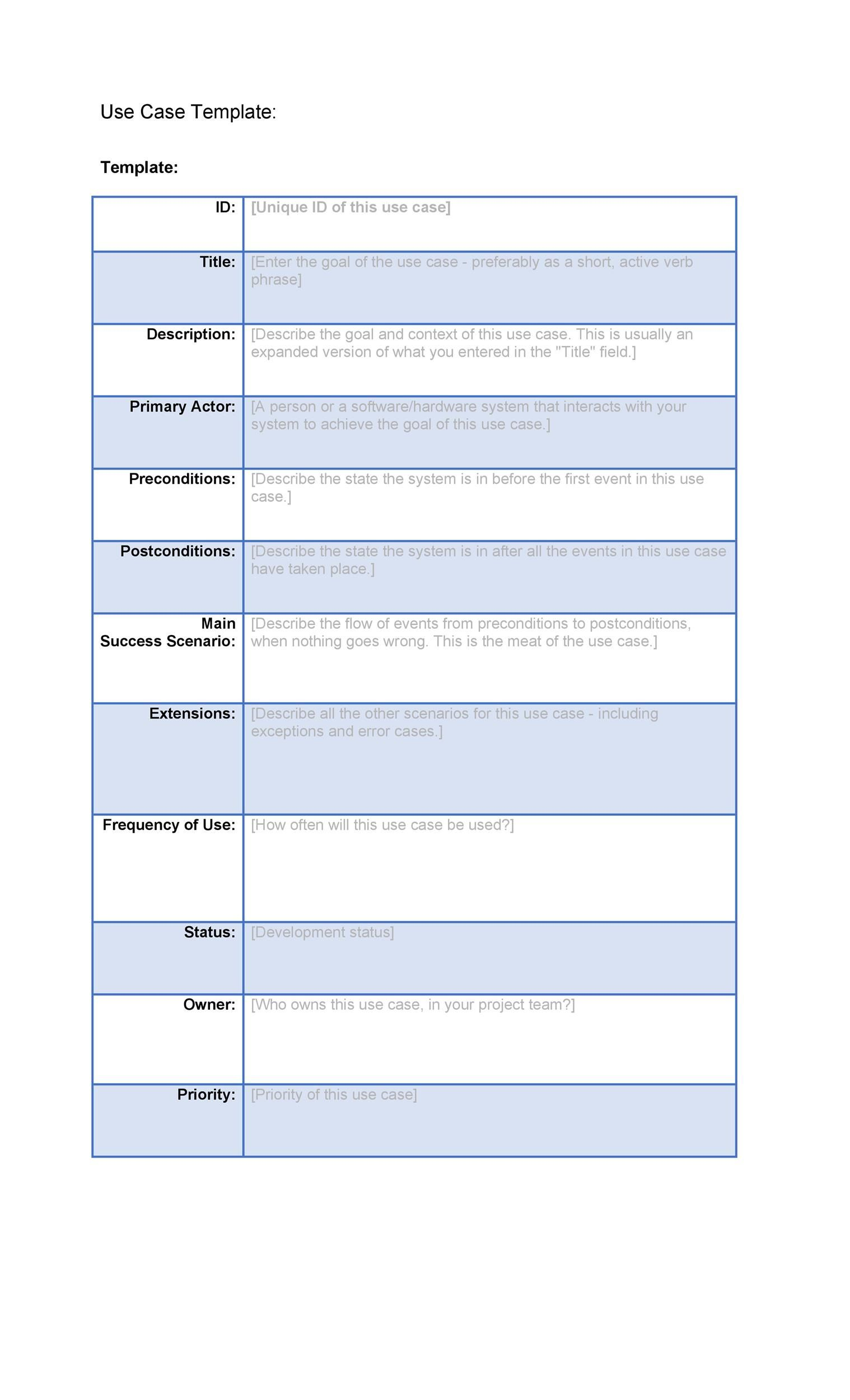 001 Staggering Use Case Template Word High Def  Doc TestFull
