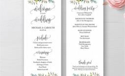 001 Staggering Wedding Program Template Word Example  Catholic Mas Sample Wording Idea Simple
