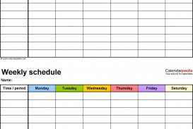 001 Staggering Weekly Schedule Template Pdf Inspiration  Employee Free Work Lesson Plan Format