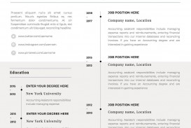 001 Stirring 1 Page Resume Template Picture  One Microsoft Word Free For Fresher