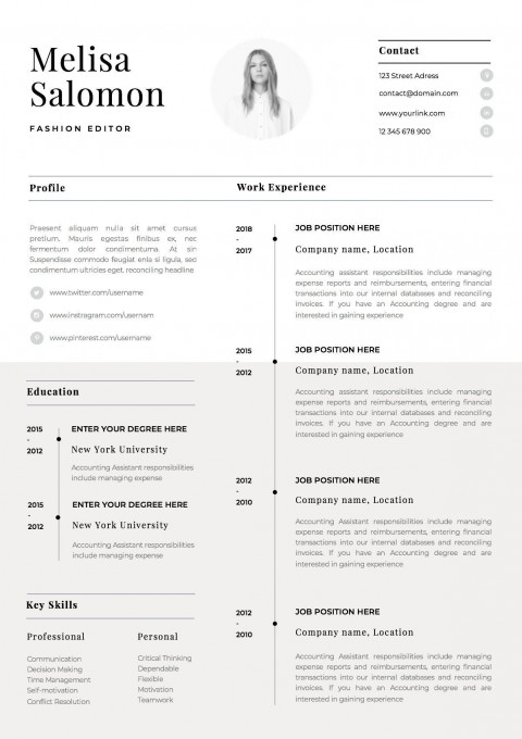 001 Stirring 1 Page Resume Template Picture  One Microsoft Word Free For Fresher480