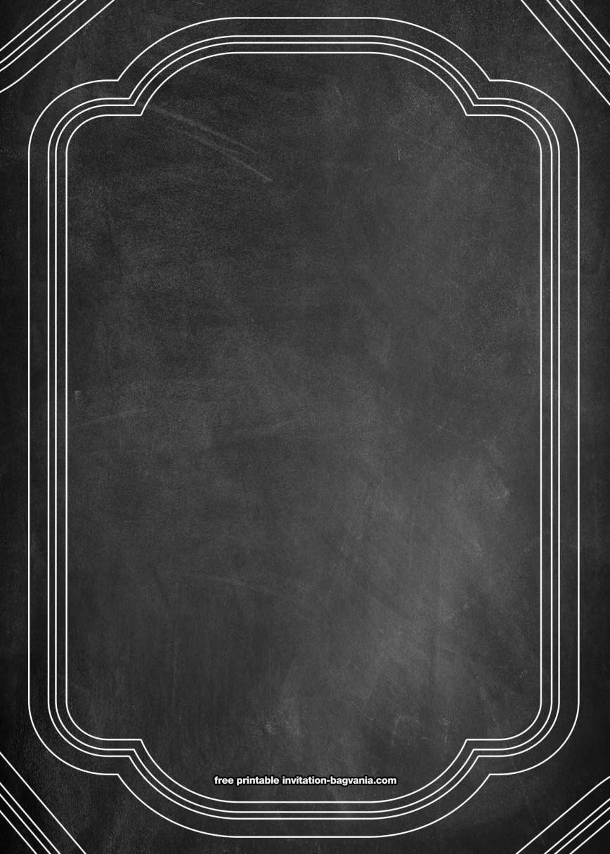 001 Stirring Chalkboard Invitation Template Free Idea  Birthday Wedding Download
