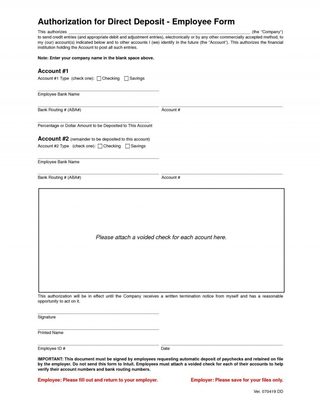 001 Stirring Direct Deposit Agreement Authorization Form Template Highest Quality Large