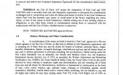 001 Stirring Employment Separation Agreement Template Inspiration  Nc Shrm Employee Florida