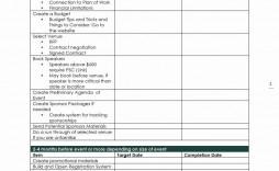 001 Stirring Event Planning Timeline Template Sample  Free Excel