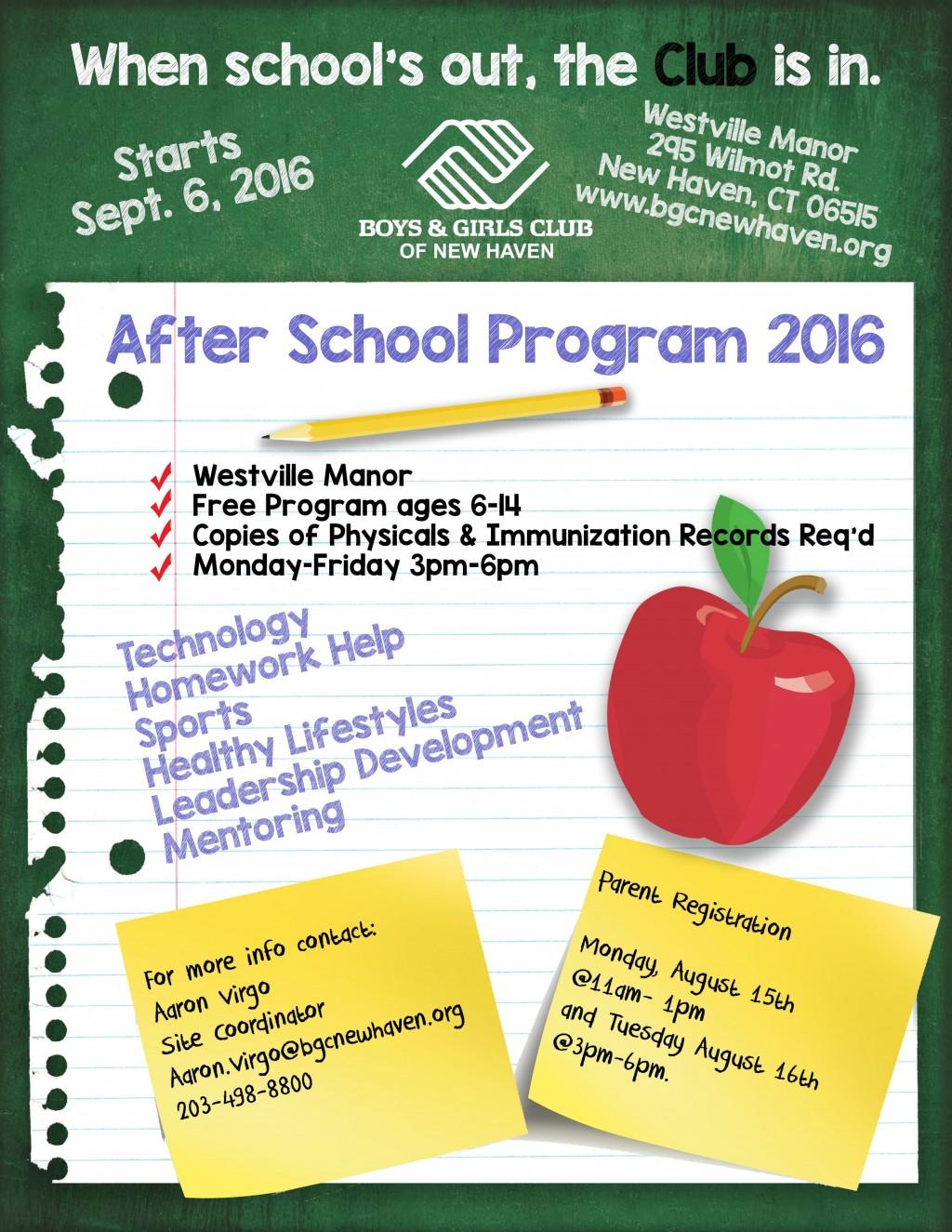 001 Stirring Free After School Program Flyer Template Concept Large