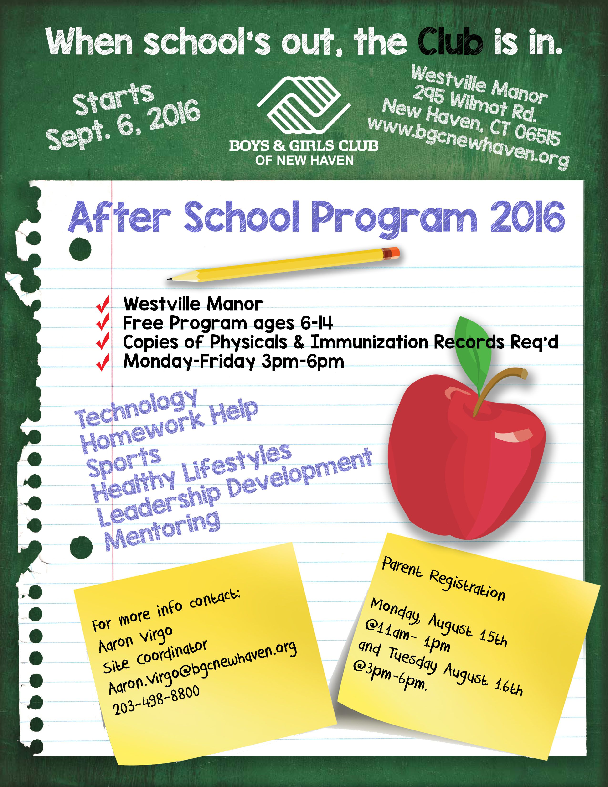 001 Stirring Free After School Program Flyer Template Concept Full