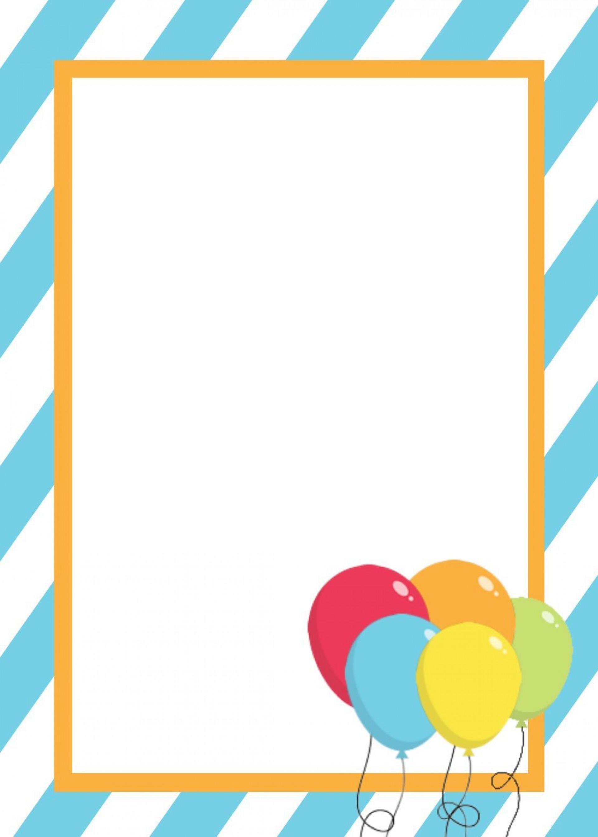 001 Stirring Free Birthday Card Invitation Template Printable Photo 1920