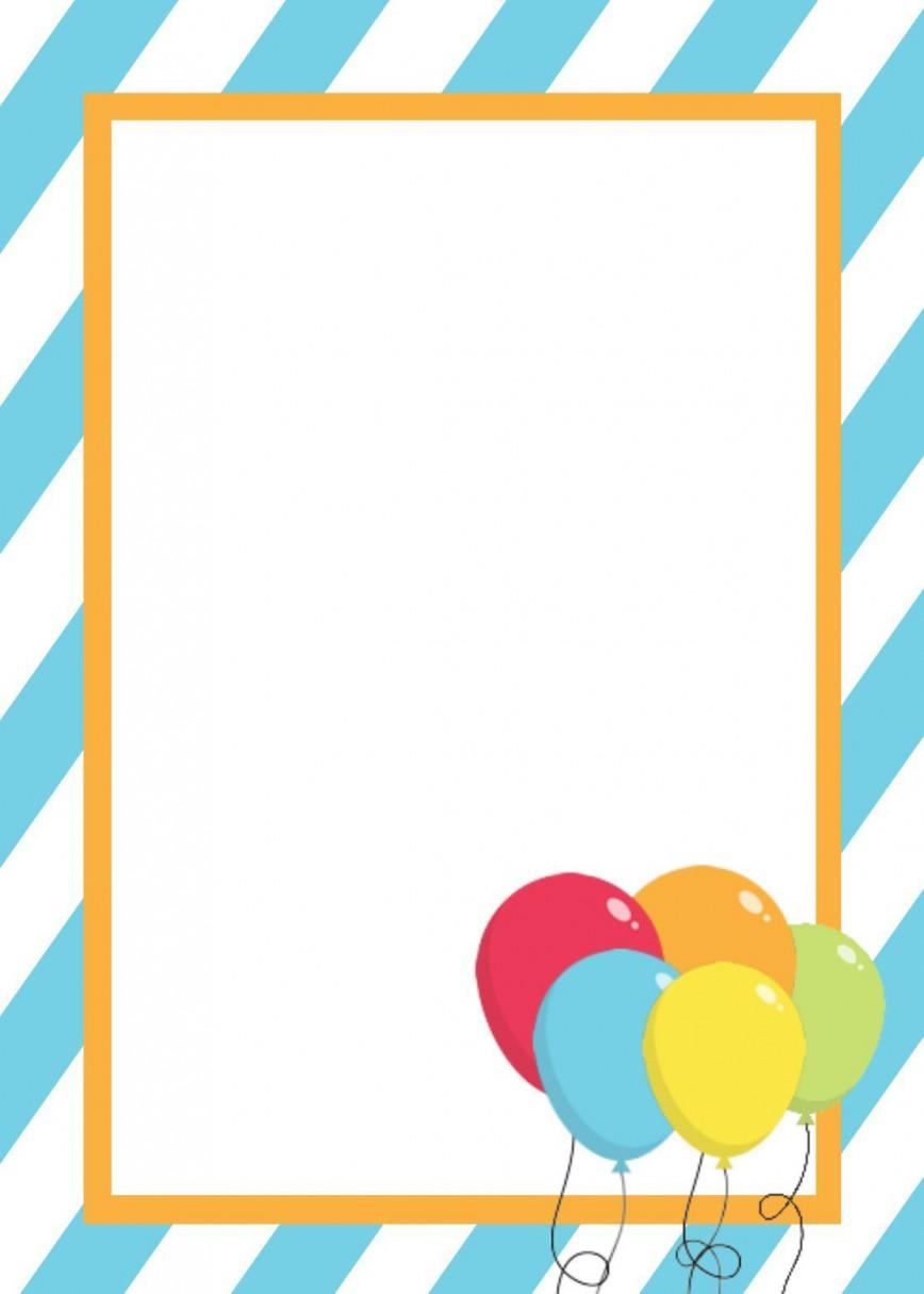 001 Stirring Free Birthday Card Invitation Template Printable Photo