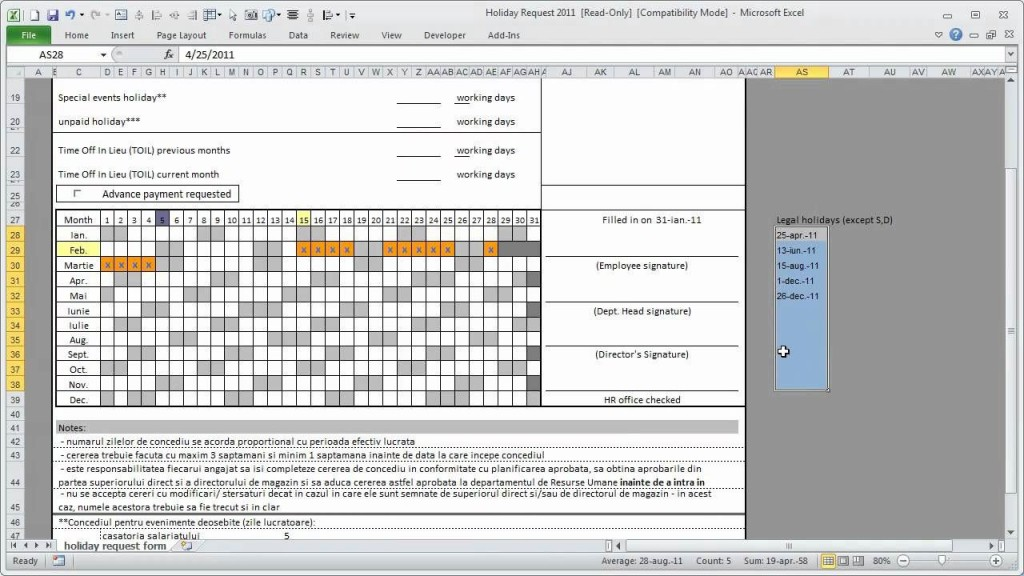 001 Stirring Free Excel Staff Holiday Planner Template Highest Clarity  2019 2020 UkLarge