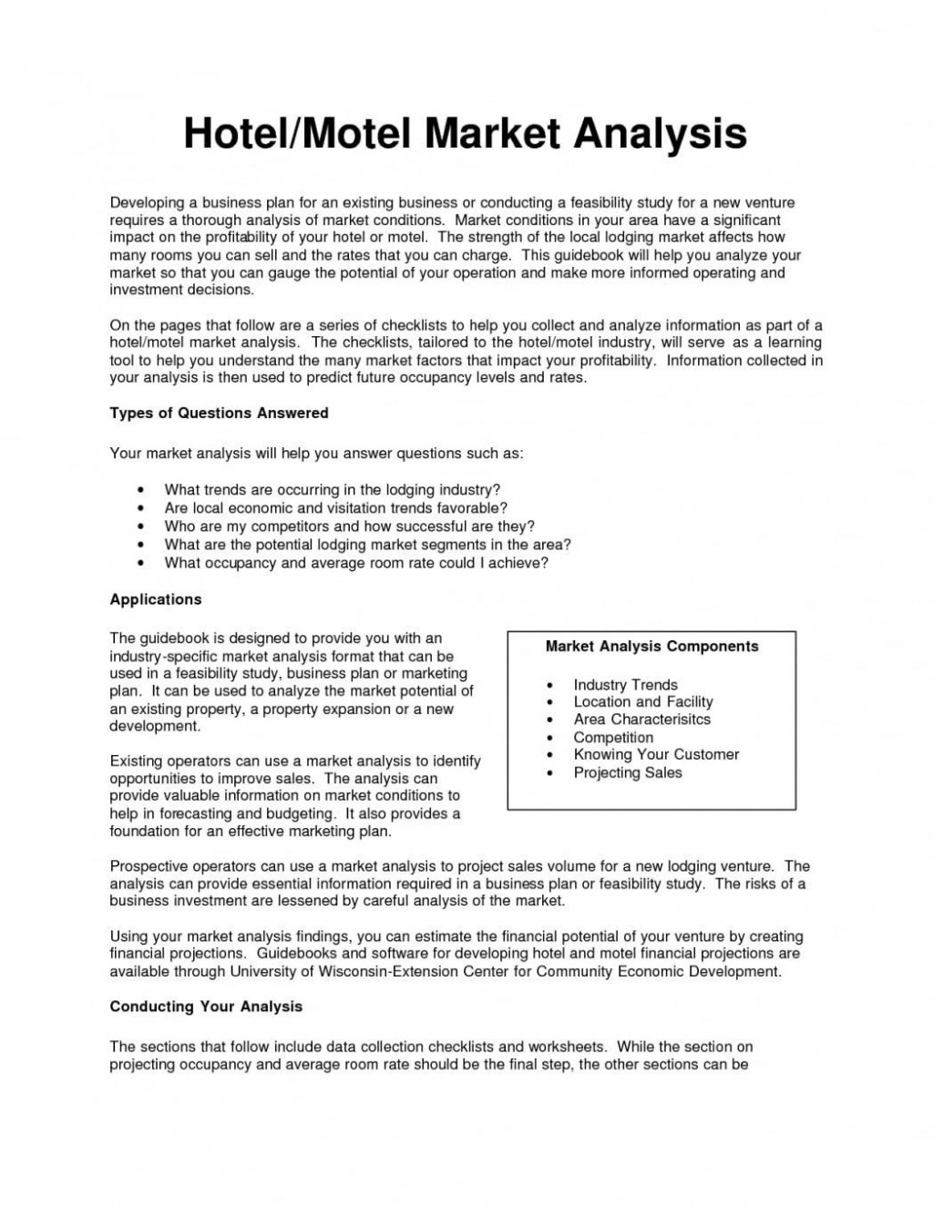 001 Stirring Free Hotel Sale And Marketing Plan Template High Def Large