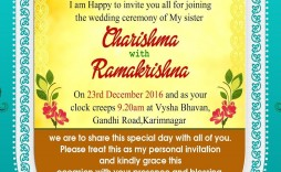 001 Stirring Free Online Indian Invitation Template Picture  Templates Engagement Card Maker Wedding