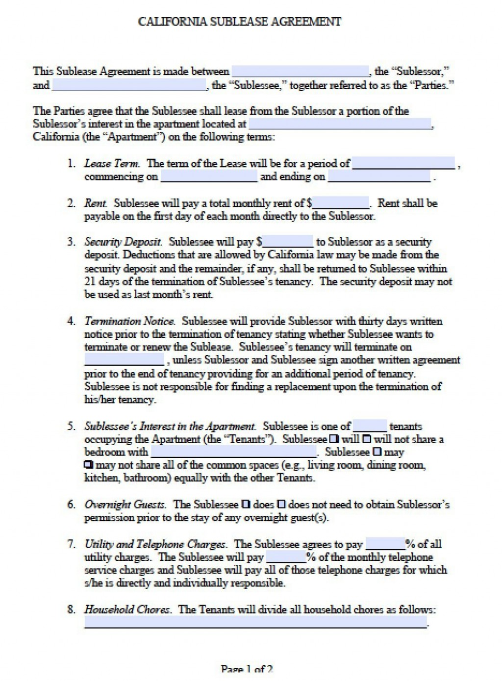 001 Stirring Free Sublease Agreement Template High Def  Lease Word South AfricaLarge