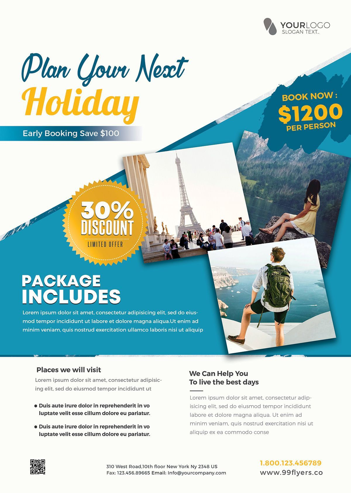 001 Stirring Free Travel Flyer Template Download Photo Full