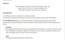 001 Stirring General Partnership Agreement Template High Resolution  Word Canada Sample Free