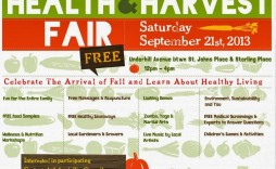 001 Stirring Health Fair Flyer Template Free Image  Download