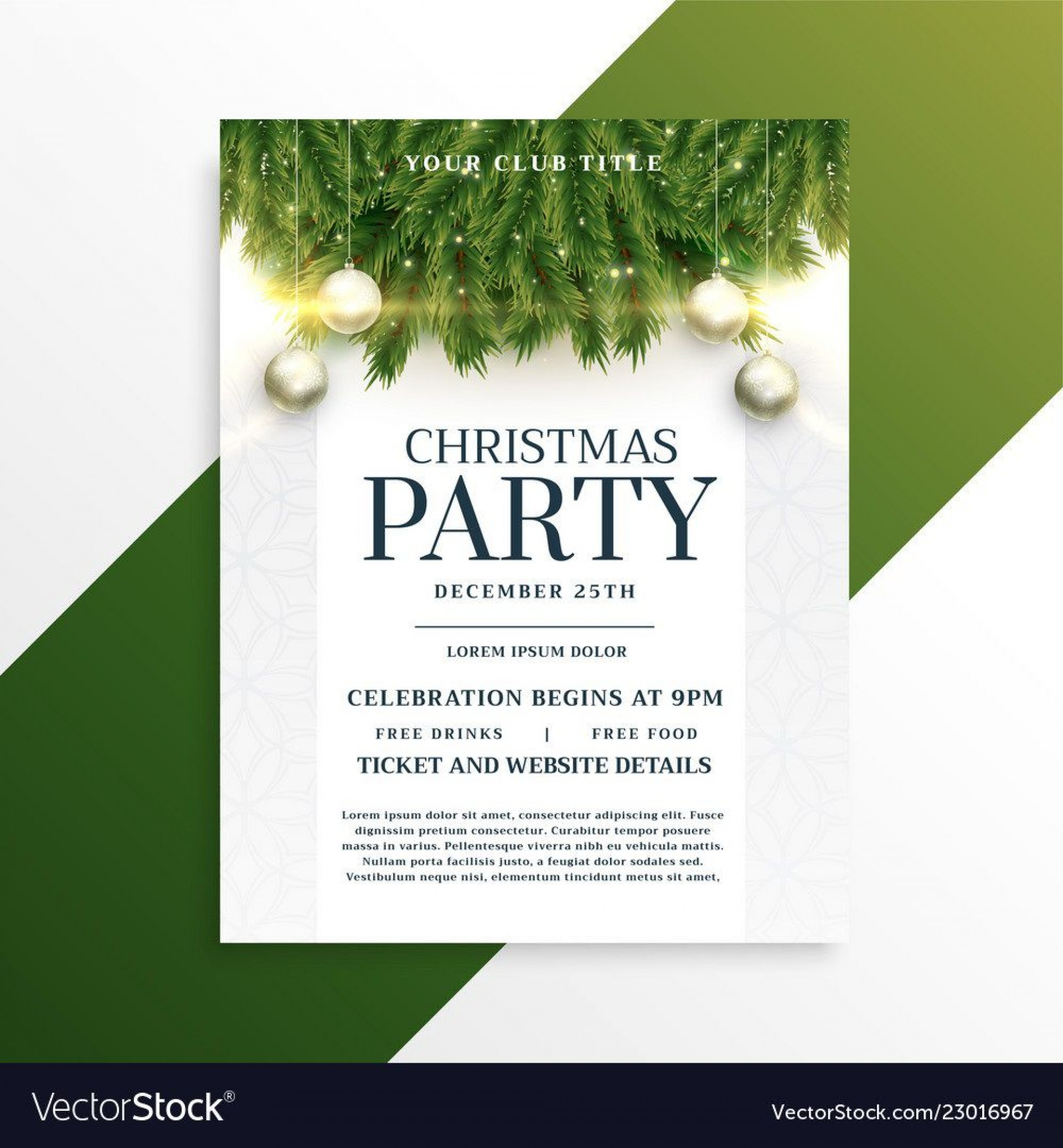 001 Stirring Holiday Party Flyer Template Free High Resolution  Office1920