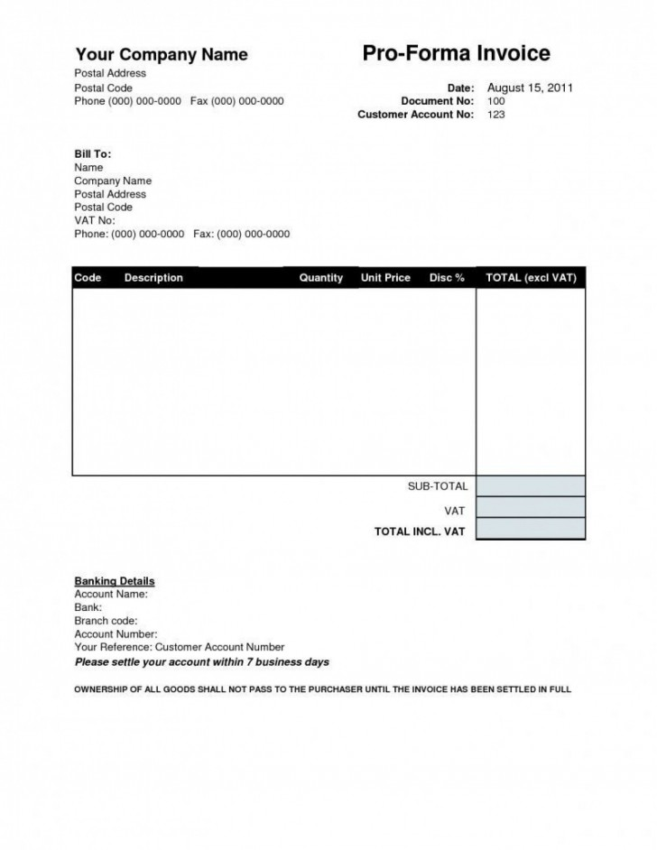 001 Stirring Invoice Template Free Download Design  Excel Service Word Format Gst Html728