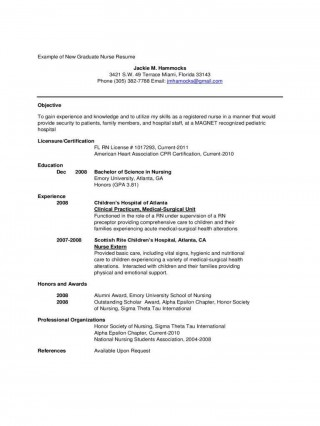 001 Stirring New Grad Nursing Resume Template Sample  Graduate Nurse Practitioner320