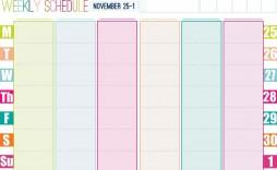 001 Stirring Printable Weekly Planner Template Cute Photo  Free Calendar