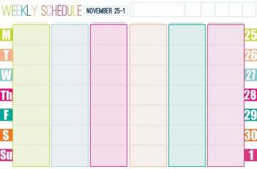 001 Stirring Printable Weekly Planner Template Cute Photo  Free Calendar360