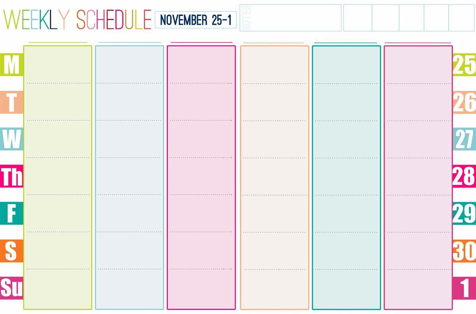 001 Stirring Printable Weekly Planner Template Cute Photo  Free CalendarFull