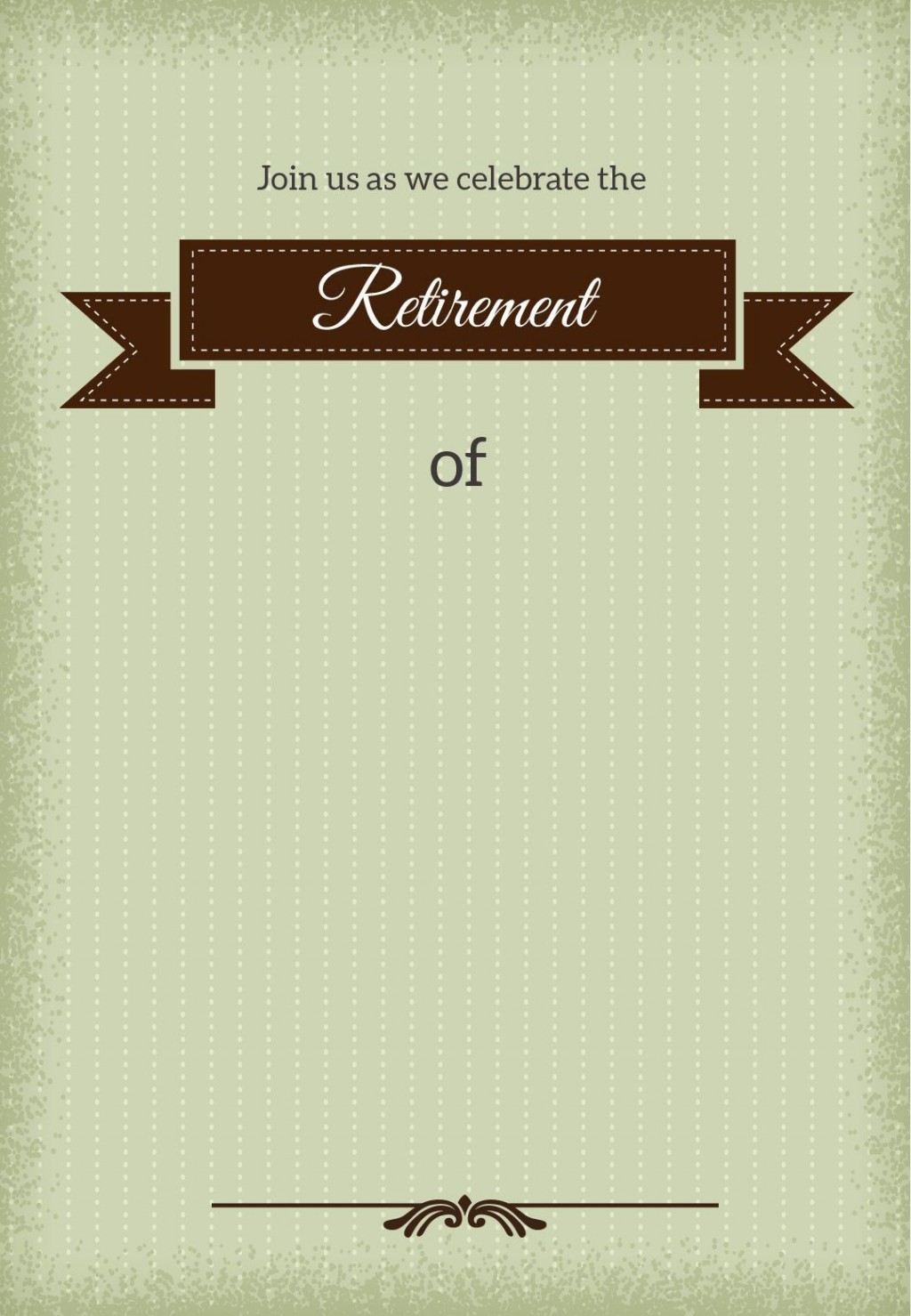 001 Stirring Retirement Invitation Template Free Idea  Party Printable For WordLarge
