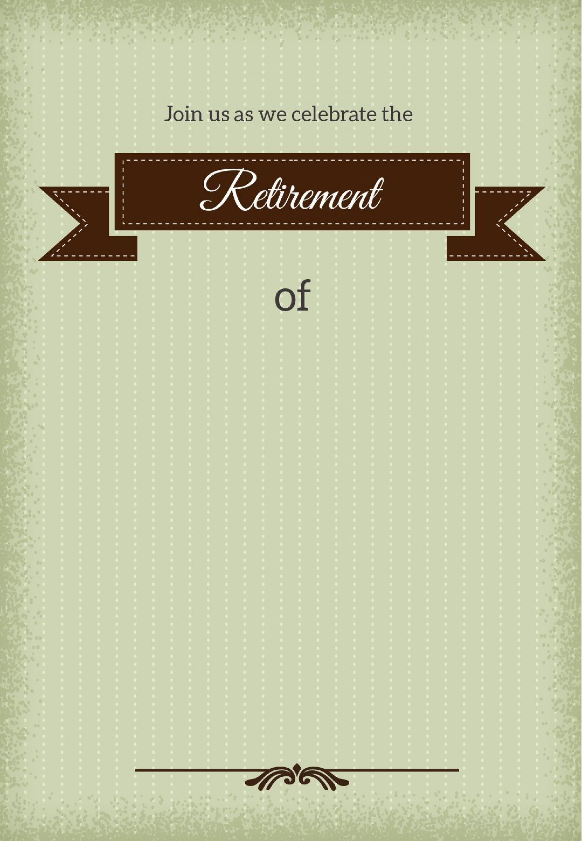 001 Stirring Retirement Invitation Template Free Idea  Party Printable For Word1920