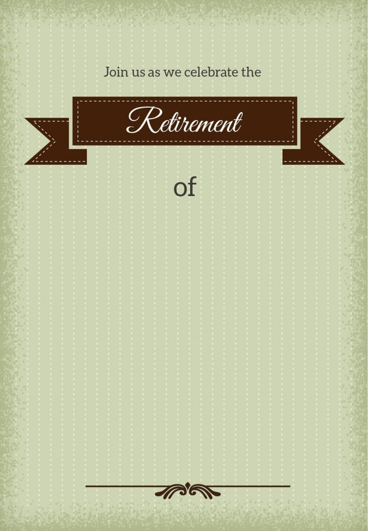 001 Stirring Retirement Invitation Template Free Idea  Party Printable For Word728