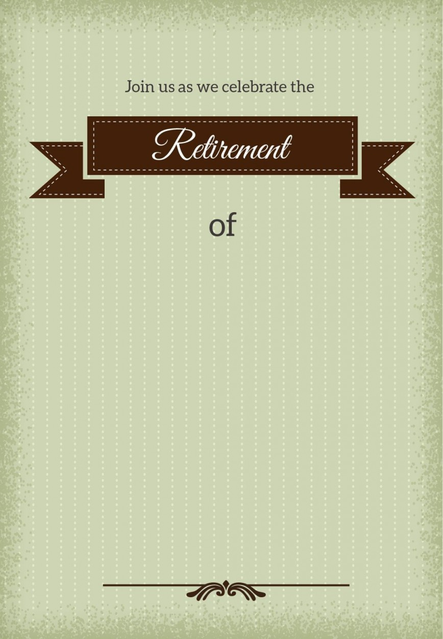 001 Stirring Retirement Invitation Template Free Idea  Party Printable For Word868