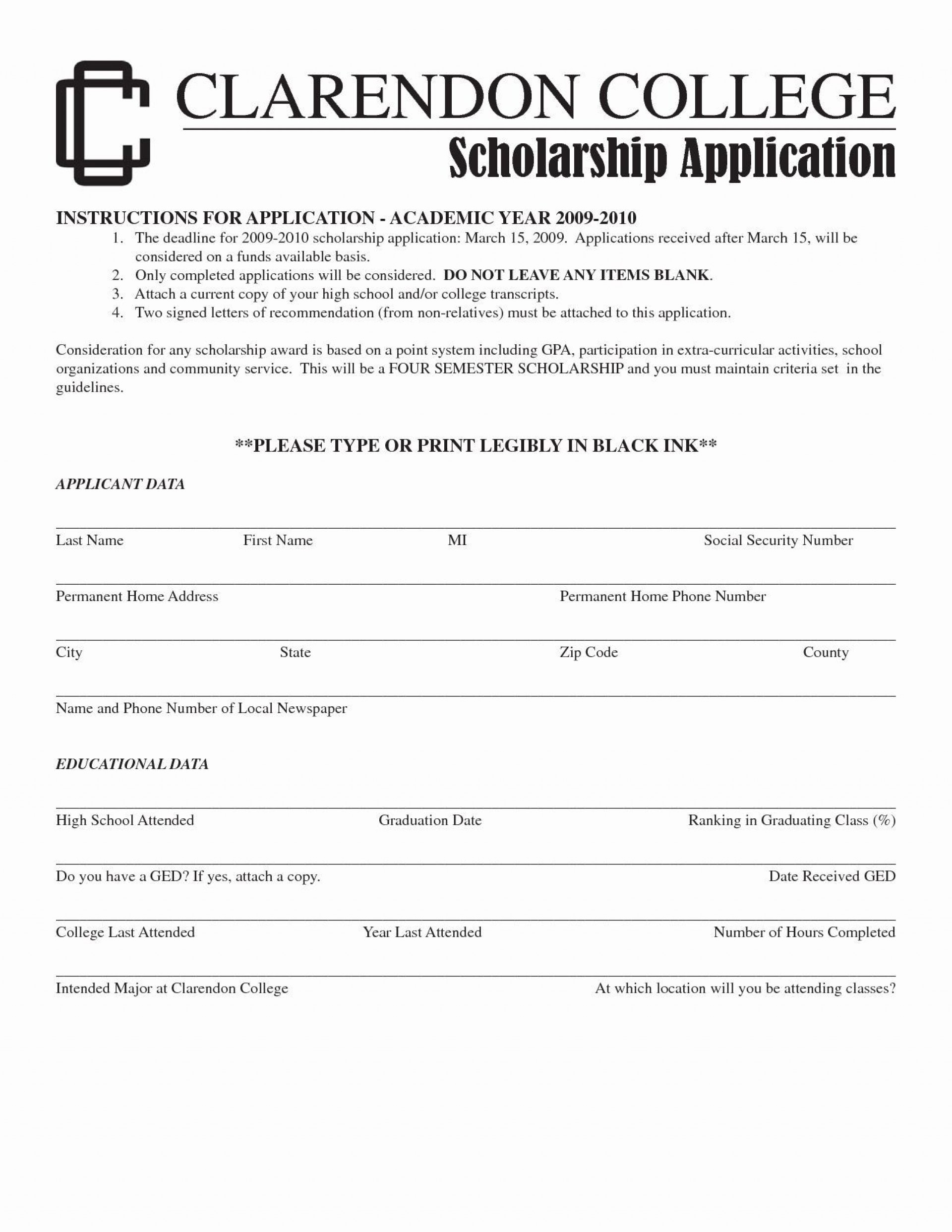 001 Stirring Scholarship Application Template Word Highest Clarity  College Letter Sample1920
