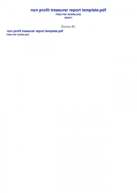 001 Stirring Treasurer Report Template Non Profit Picture  Treasurer' Word Free For Nonprofit Organization1920