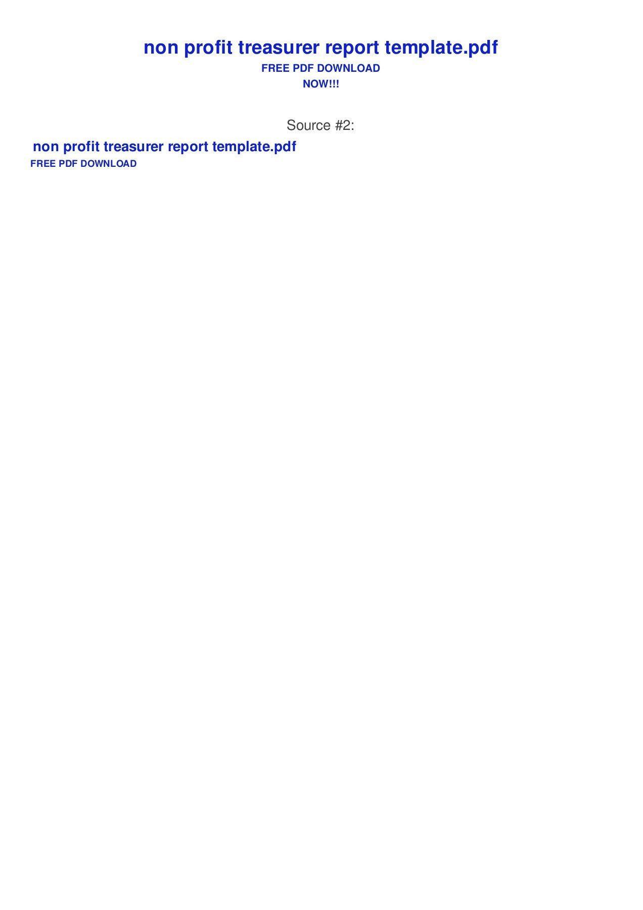 001 Stirring Treasurer Report Template Non Profit Picture  Treasurer' Word Free For Nonprofit OrganizationFull