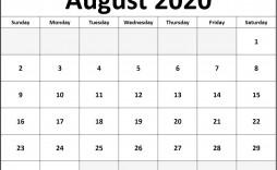 001 Striking 2020 Calendar Template Excel High Def  Microsoft Editable In Format Free Download