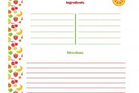 001 Striking 3 X 5 Recipe Card Template Microsoft Word Idea