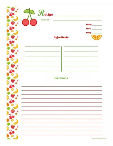 001 Striking 3 X 5 Recipe Card Template Microsoft Word Idea 480