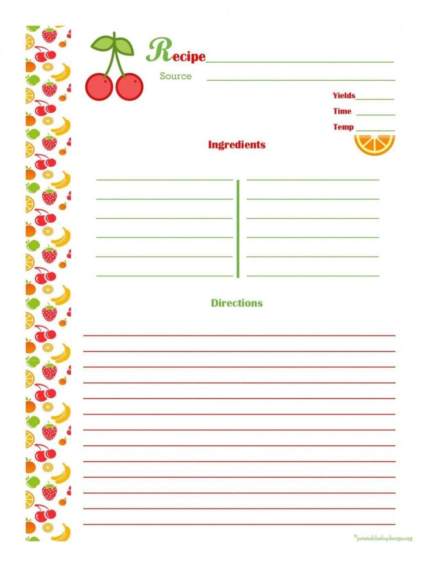 001 Striking 3 X 5 Recipe Card Template Microsoft Word Idea 868