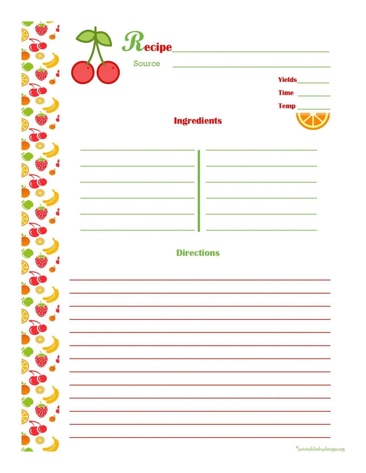 001 Striking 3 X 5 Recipe Card Template Microsoft Word Idea Full