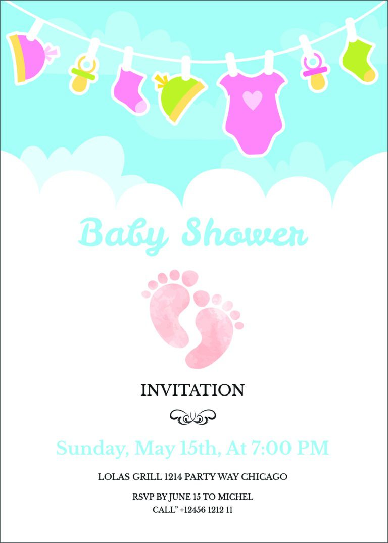 001 Striking Baby Shower Invitation Template Editable High Def  Free Surprise In Gujarati TwinFull