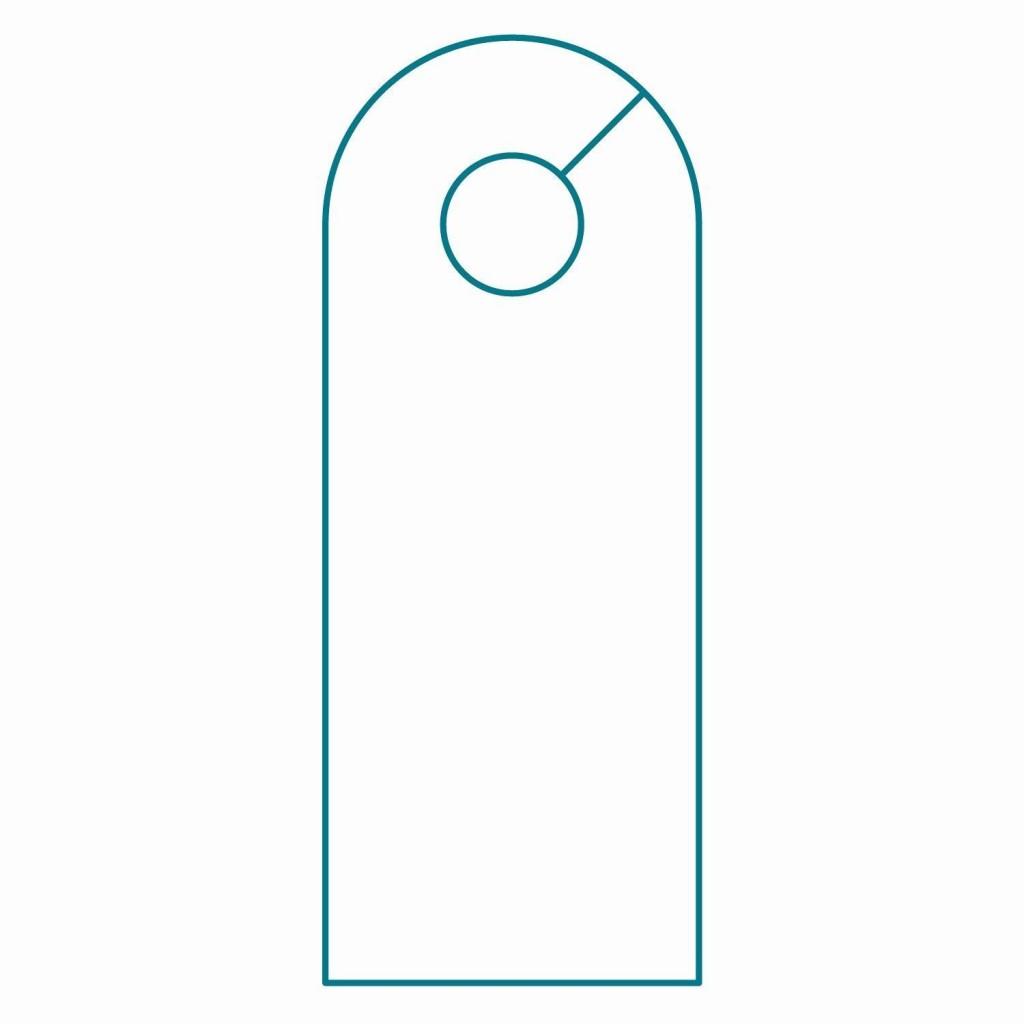 001 Striking Blank Door Hanger Template Highest Quality  Free Printable Microsoft WordLarge