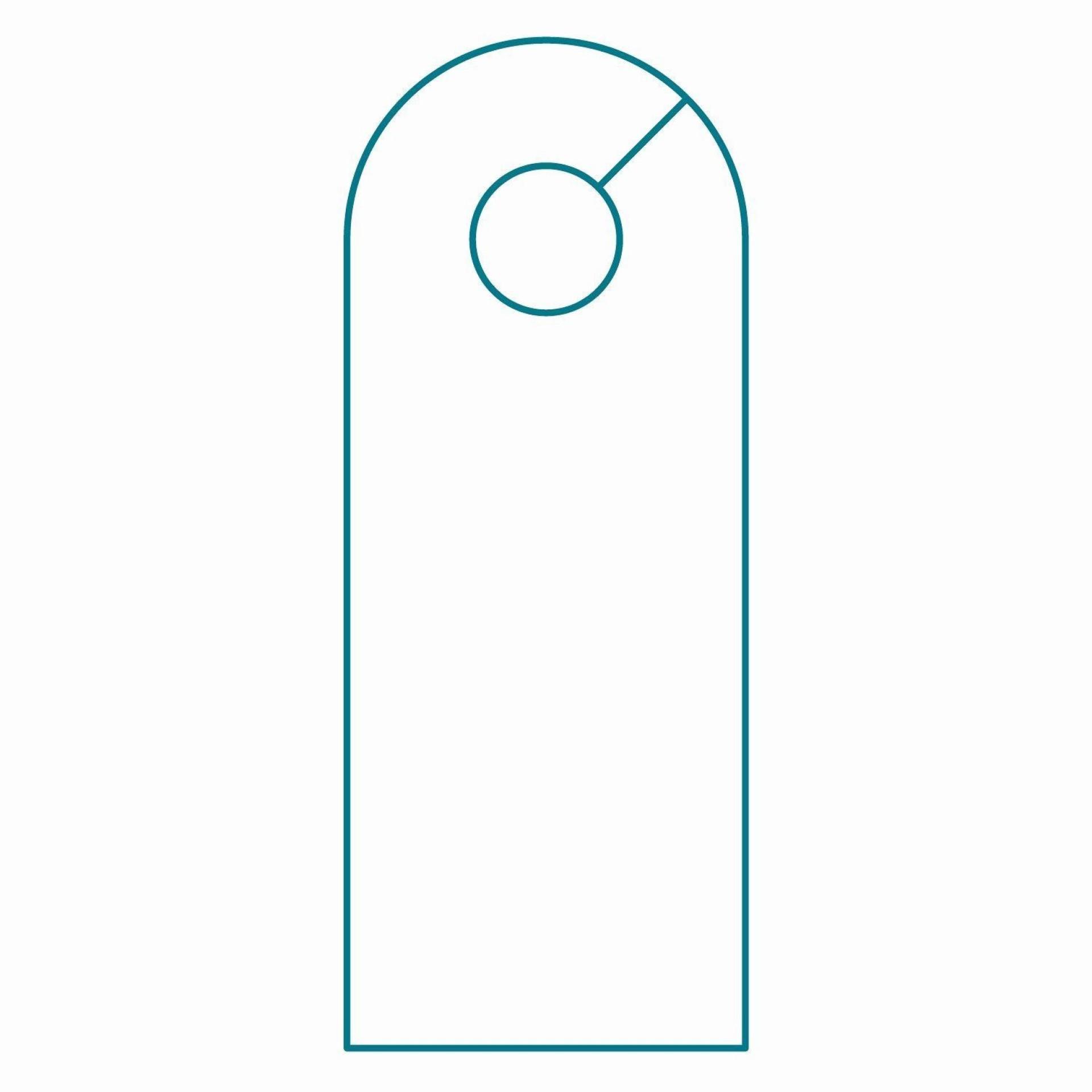 001 Striking Blank Door Hanger Template Highest Quality  Free Printable Microsoft Word1920