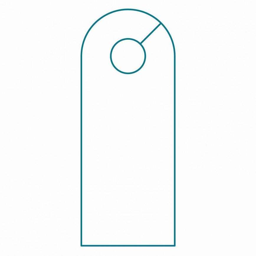 001 Striking Blank Door Hanger Template Highest Quality  Free Printable Microsoft Word