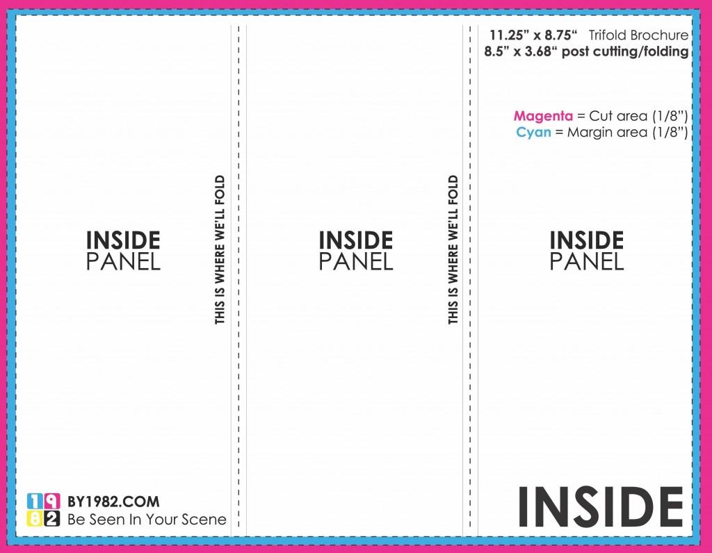 001 Striking Brochure Template Google Doc Photo  Blank Tri Fold SlideLarge