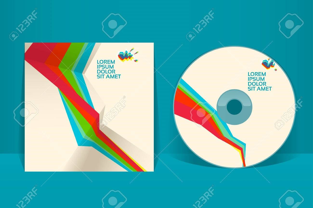 001 Striking Cd Cover Design Template High Resolution  Free Vector Illustration Word Psd DownloadFull