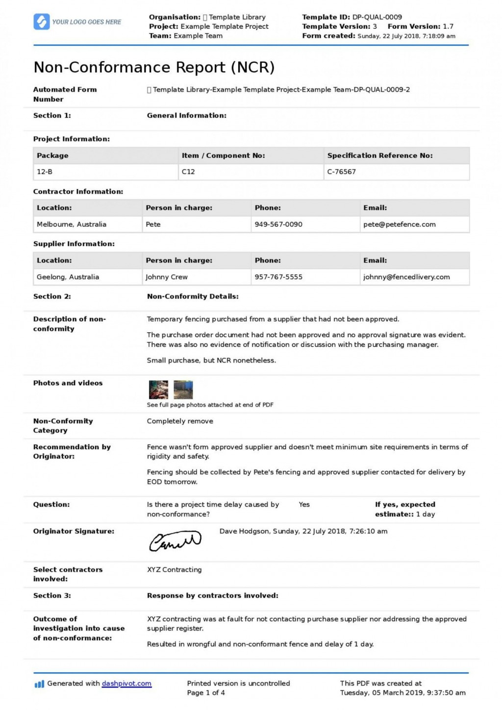 001 Striking Corrective Action Form Template Photo  Free 8d Request Iso 9001 EmployeeLarge