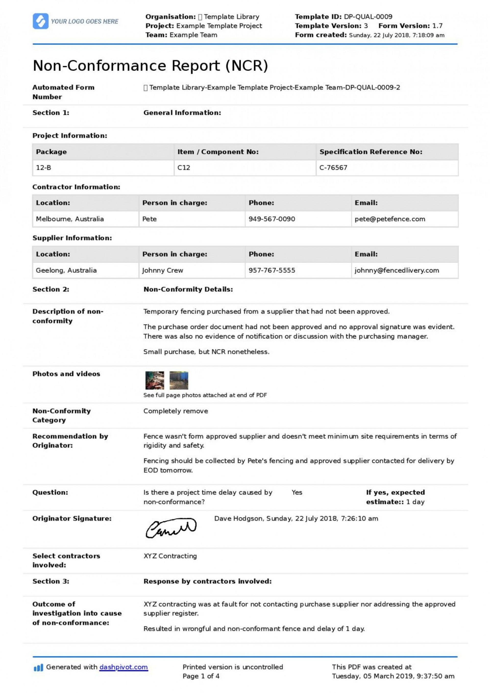001 Striking Corrective Action Form Template Photo  Free 8d Request Iso 9001 Employee1920
