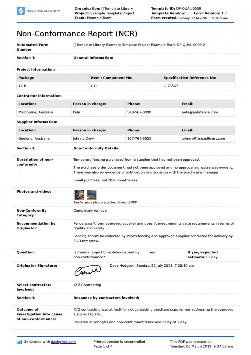 001 Striking Corrective Action Form Template Photo  Request Free Employee Word