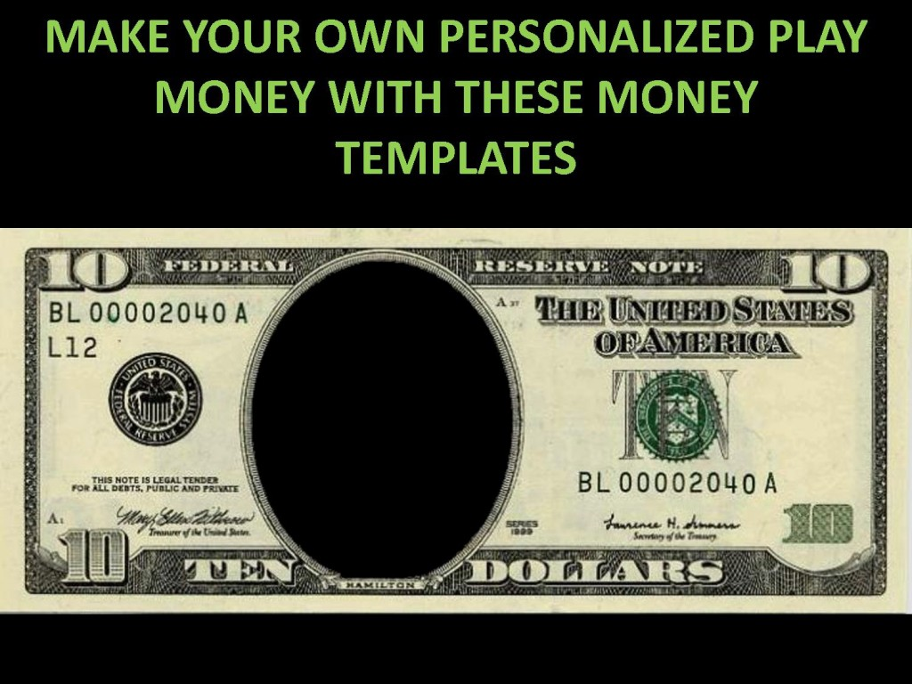 001 Striking Customizable Fake Money Template High Def  FreeLarge