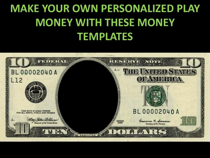 001 Striking Customizable Fake Money Template High Def  Cash Free868