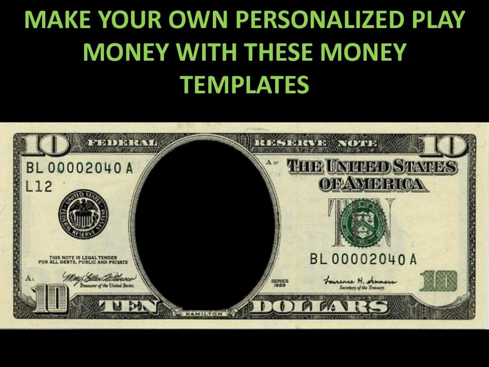 001 Striking Customizable Fake Money Template High Def  Cash Free960